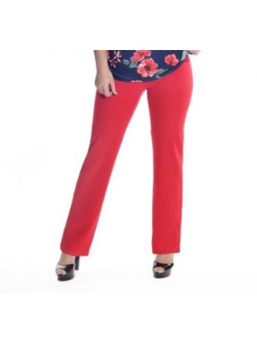 Pantalón crep Rojo
