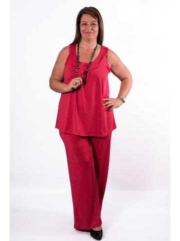 Pantalón Lurex Rojo