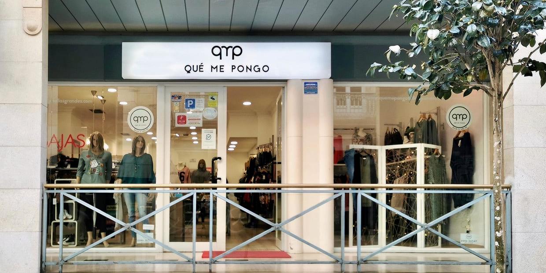 Exterior de la tienda QMP en Vigo